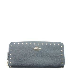 Coach Slim Accordion Zip Zippered Wallet 167749